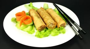 Vegetarian spring rolls Royalty Free Stock Image