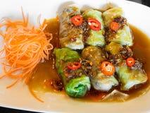 Vegetarian Spring Rolls Cabbage Stock Image