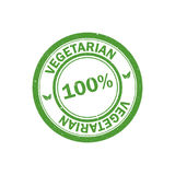 100% vegetarian stamp. Vegan logo.  Vector icon. 100% vegetarian stamp. Vegan logo. Green food watermark. Vector icon Royalty Free Stock Photo