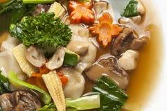 Vegetarian stir-fried rice noodle Royalty Free Stock Photos