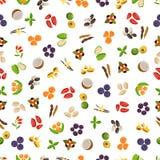 Vegetarian superfood healthy vegetable pattern. Royalty Free Stock Photo