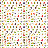 Vegetarian superfood healthy vegetable pattern. Royalty Free Stock Photography