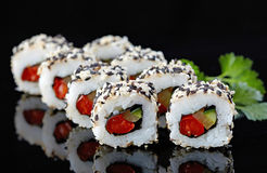 Vegetarian sushi Stock Photography