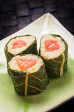Vegetarian sushi with flowers Royalty Free Stock Photo