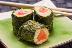 Vegetarian sushi with flowers Stock Image