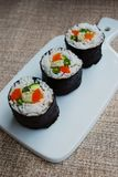 Vegetarian sushi maki rolls Royalty Free Stock Photography