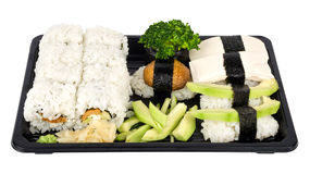 Vegetarian sushi mix Royalty Free Stock Photos