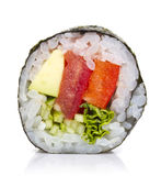 Vegetarian sushi roll isolated Royalty Free Stock Image