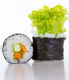 Vegetarian sushi roll Stock Photos