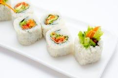 Vegetarian sushi rolls Royalty Free Stock Image