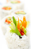 Vegetarian sushi rolls, macro Stock Photography