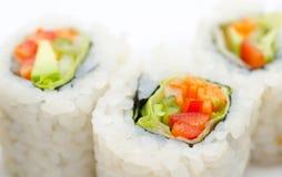 Vegetarian sushi rolls, macro Stock Photo