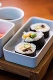 Vegetarian sushi rolls Stock Photo