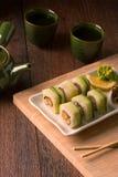Vegetarian sushi set Stock Photos