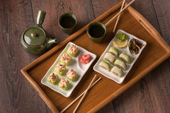 Vegetarian sushi set Stock Image