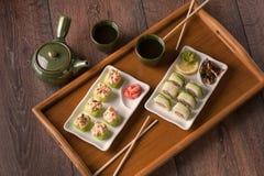Vegetarian sushi set Stock Image