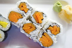 Vegetarian Sushi Stock Photography