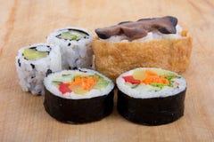 Vegetarian sushi Stock Photo