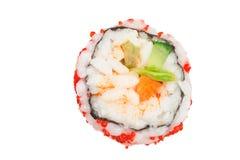 Vegetarian sushi. Sushi with vegetables isolated on white background Stock Photography