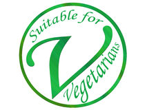Vegetarian symbol Royalty Free Stock Photo