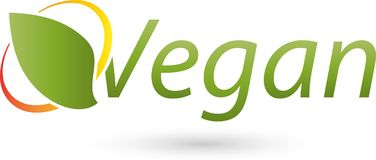 Vegetarian symbol, vegan and nature logo Royalty Free Stock Photos
