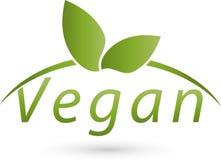 Vegetarian symbol, vegan and nature logo. Vegetarian symbol with leaves, colored, vegan and nature logo Stock Image