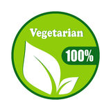 Vegetarian symbol vector design Royalty Free Stock Photo