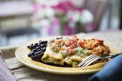 Vegetarian Tamale Dinner Stock Photos