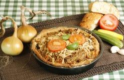 Vegetarian tart Stock Image