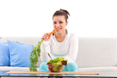 Vegetarian teenager Stock Image