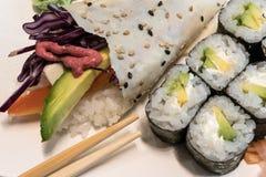 Vegetarian Temaki-Sushi royalty free stock images