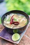 Vegetarian Thai Food mushroom tom yum soup Stock Image
