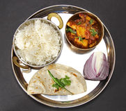 Vegetarian Thali Stock Photography