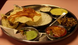 Vegetarian Thali Platter Stock Photo