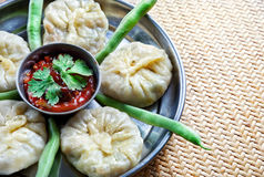Vegetarian Tibetan momo with beans Royalty Free Stock Photos