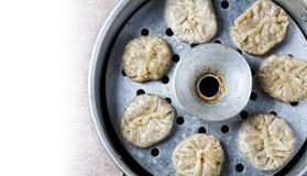 Vegetarian Tibetan momos Stock Image