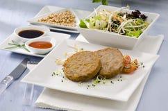 Vegetarian tofu burger. Stock Photo