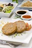 Vegetarian tofu burger. Stock Images