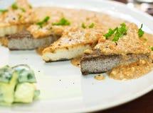 Vegetarian tofu steak Stock Image