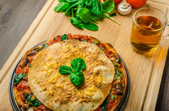 Vegetarian tortilla and bolognese sauce Royalty Free Stock Photos