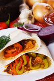 Vegetarian tortilla wraps Royalty Free Stock Photos