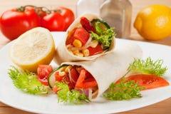 Vegetarian tortilla wraps Stock Photography