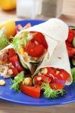 Vegetarian tortilla wraps Stock Image