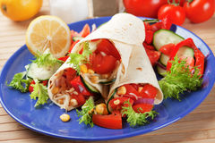 Vegetarian tortilla wraps Royalty Free Stock Photo