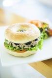 Vegetarian tuna bagel Royalty Free Stock Images