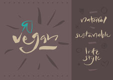 Vegetarian - Vegan - Calligraphy Stock Image