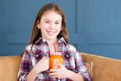 Vegetarian vegan diet kid natural organic smoothie Stock Image