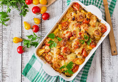 Vegetarian Vegetable Casserole Royalty Free Stock Photography