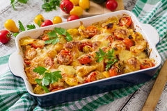 Vegetarian Vegetable casserole Royalty Free Stock Images