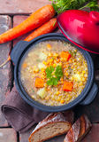 Vegetarian vegetable and lentil stew Stock Image